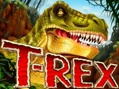 Logo of T-Rex Online Slot Machine Game