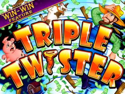 Triple Twister Online Slot Machine Game Logo